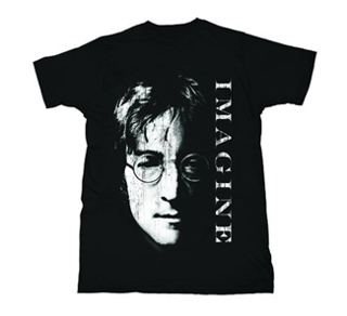 "Picture of T-Shirt: John Lennon ""Imagine"" Portrait Medium-Adult-Size"