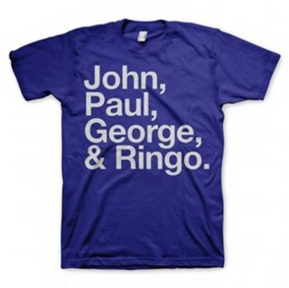 Picture of Beatles Adult T-Shirt: Blue JPGR  T-Shirt Small-Adult-Size