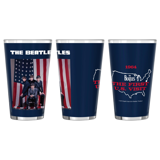 Picture of Beatles Glass: 1964 US Flag  Pint Glass