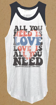 """Picture of Beatles Female T-Shirt: Lyric Collection """"All You Need is Love"""""""