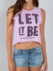 """Picture of Beatles Female T-Shirt: Lyric Collection """"Let It Be"""""""