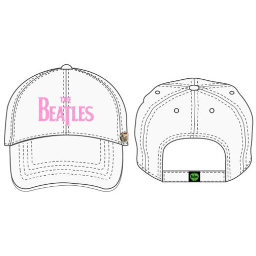 Picture of Beatles Cap: The Beatles Drop T Logo Distressed (White)