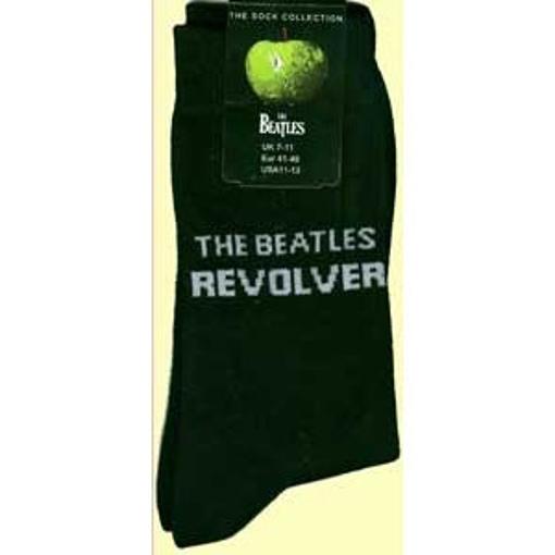 Picture of Beatles Socks: The Beatles Mens (Black) Revolver socks