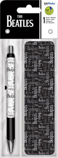 Picture of Beatles Pen: Gel Pen with Bookmark