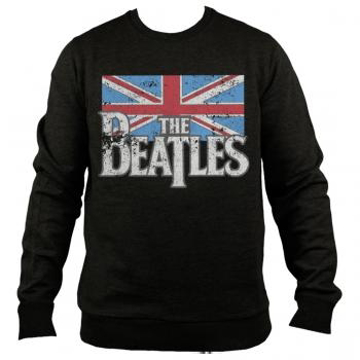 Picture of Beatles Sweat Shirt:: British Flag Beatles Logo