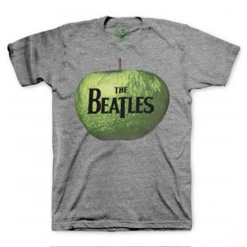 Picture of Beatles Adult T-Shirt: Apple Logo Grey