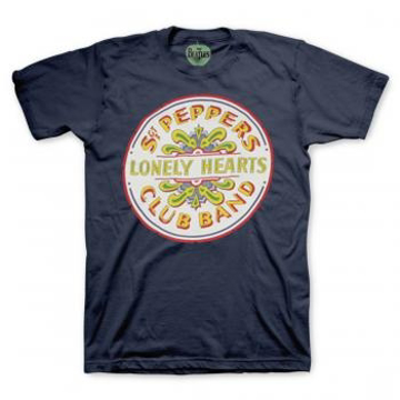 Picture of Beatles Adult T-Shirt: Sgt Pepper Drum Blue.