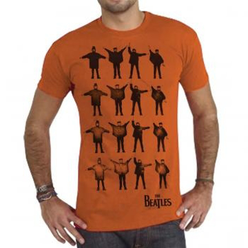 "Picture of Beatles Adult T-Shirt: ""Help"" Burnt Orange"