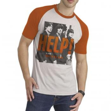 "Picture of Beatles Adult T-Shirt: ""Help"" Two Color"