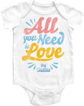 "Picture of Beatles Onesie: ""All You Need is Love"""