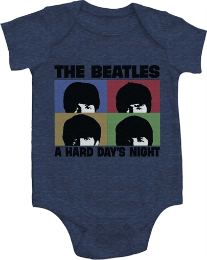 """Picture of Beatles Onesie: """"Hard Day's Night"""""""