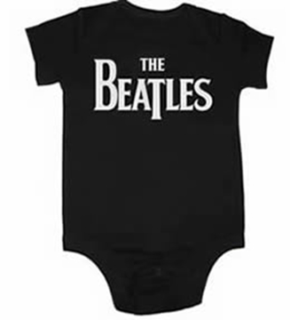 Picture of Beatles Onesie: Drop T Black & White