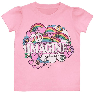 Picture of John Lennon T-Shirt: Girls Imagine Pink