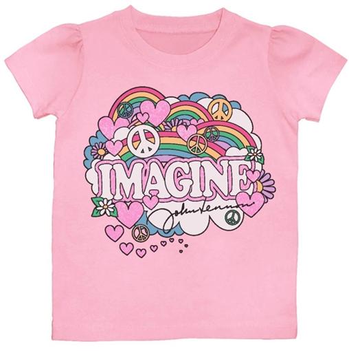Picture of John Lennon T-Shirt: Girls Imagine Pink