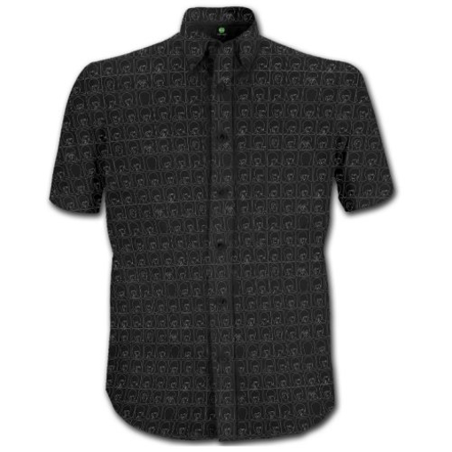 Picture of Beatles Dress Shirt: Black Hard Day's Night Pattern