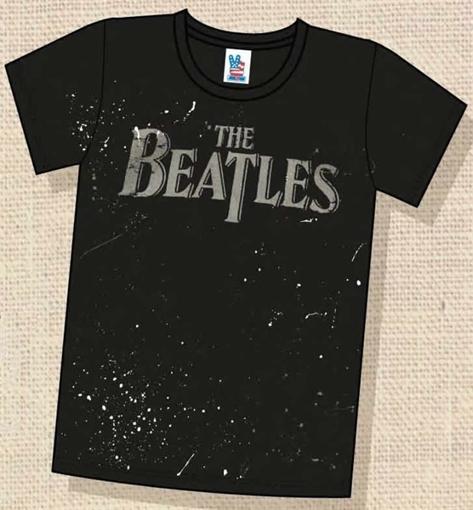 """Picture of Beatles T-Shirt: Drop T Logo """"Paint"""""""