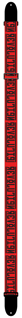 Picture of Beatles Guitar Strap: Revolution Red