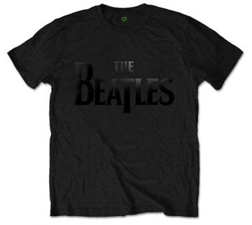 Picture of Beatles Adult T-Shirt:; Classic Black Drop-T