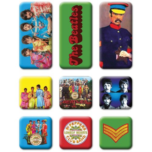 Picture of Beatles Magnets: Collectible: Sgt Pepper Set of 9 Magnets