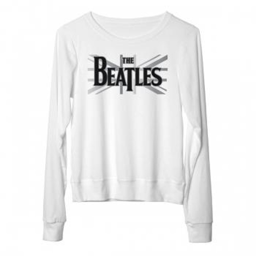 Picture of Beatles Jr's T-Shirt: B&W UNION JACK LONG SLEEVE