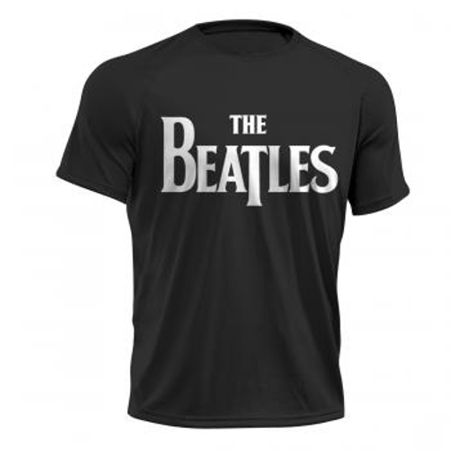 Picture of Beatles Adult T-Shirt: Active Wear Classic Black Drop-T