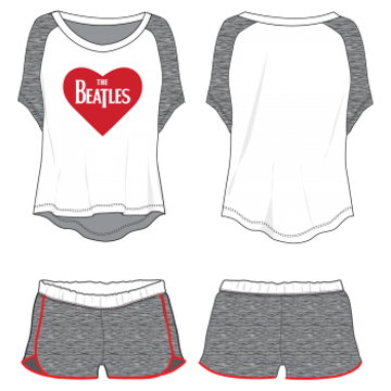 Picture of Beatles Jr's T-Shirt & Shorts: Lounge Wear Set