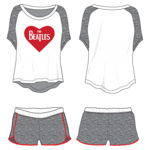 Picture of Beatles Jr's T-Shirt & Shorts: Lounge Wear Set