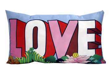 "Picture of Beatles Pillow: The Beatles ""Love"" Deco Pillow"