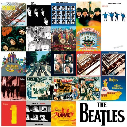 """Picture of Beatles Sign: """"UK"""" Album Covers Chronologically"""