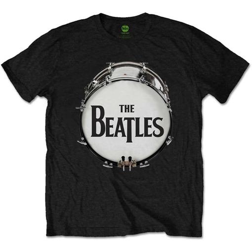 Picture of Beatles Adult T-Shirt: Drum Skin Logo - Black