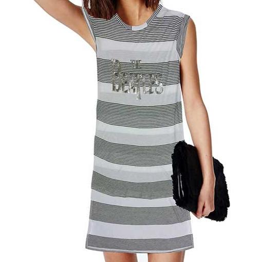 Picture of Beatles Women's Tee Dress: Drop T Logo