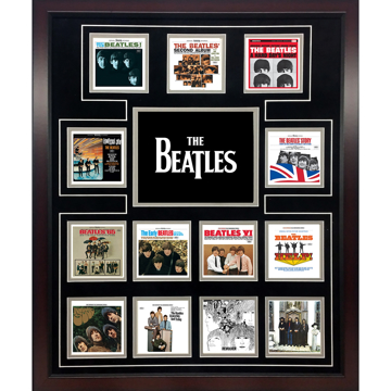 "Picture of Beatles ART: The Beatles ""US Album Covers"" framed presentation"