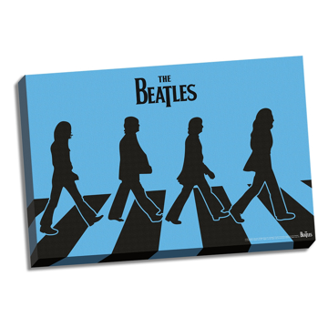 "Picture of Beatles ART: 36""  X 24""  The Beatles Abbey Road Color Blue Canvas"