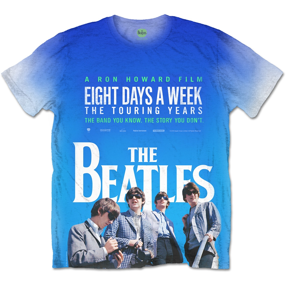 618f7180b0d3 Picture of Beatles Adult T-Shirt: Eight Days a Week Movie Poster -  Sublimated