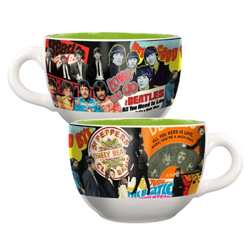 Picture of Beatles Soup Mug: The Beatles Album Collage Soup Mug