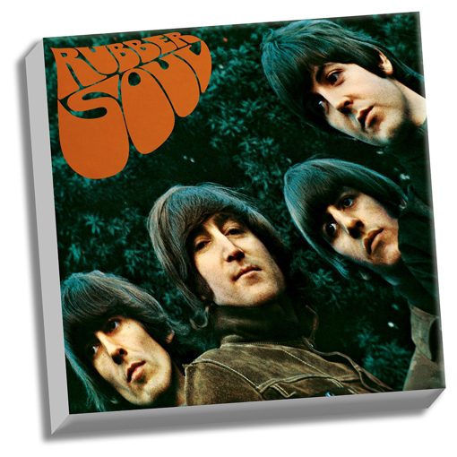 "Picture of Beatles ART: The Beatles Rubber Soul 20"" x 20"" Stretched Canvas"