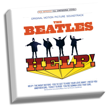 "Picture of Beatles ART: The Beatles HELP! Soundtrack 20"" x 20"" Stretched Canvas"