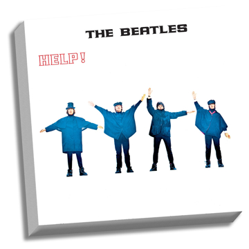 "Picture of Beatles ART: The Beatles HELP! 20"" x 20"" Stretched Canvas"