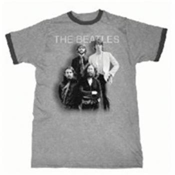 Picture of Beatles Adult T-Shirt: Beatles Last Stand - Grey Ringer