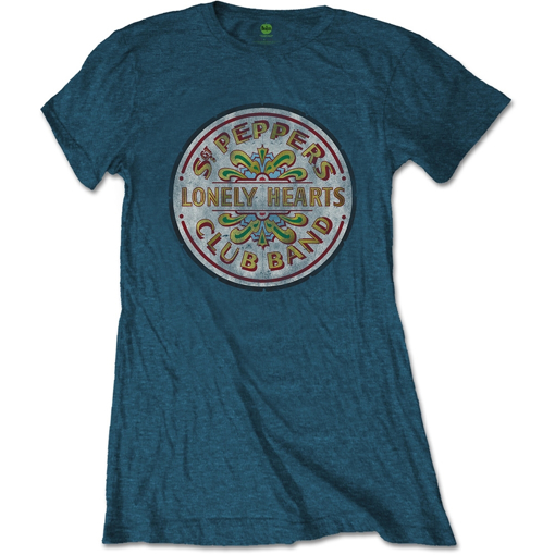 Picture of Beatles Jr's T-Shirt: Sgt Pepper Seal on Denim Color Tee