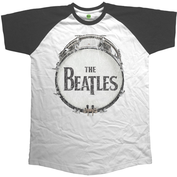 Picture of Beatles Adult T-Shirt: Beatles Vintage Drum Raglan