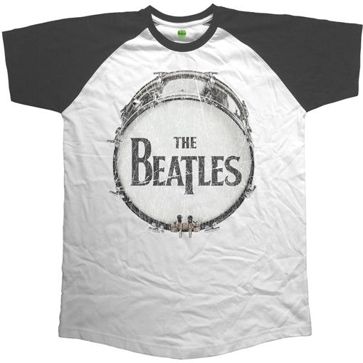 Picture of Beatles Adult T-Shirt: Beatles Vintage Drum Raglan