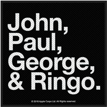 Picture of Beatles Patches: John, Paul, George & Ringo