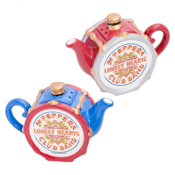Picture of Beatles Salt & Pepper: The Beatles Sgt Pepper's Tea Pot Salt & Pepper Set