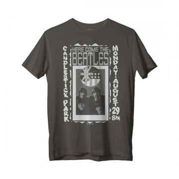 Picture of Beatles Adult T-Shirt: Beatles Candlestick Poster (Black)