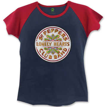 Picture of Beatles Jr's T-Shirt: Sgt Pepper Seal Navy-Red