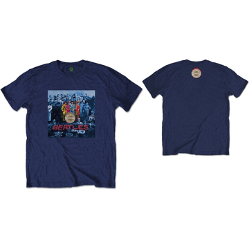 Picture of Beatles Adult T-Shirt: Sgt Pepper Blue Cover on Blue