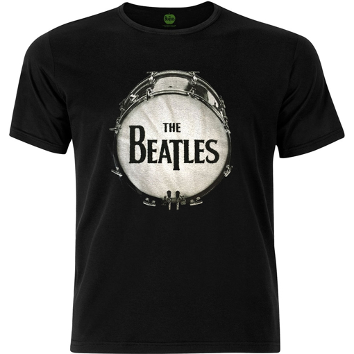 Picture of Beatles Adult T-Shirt: Drum Logo Caviar Beads