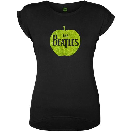 Picture of Beatles Jr's T-Shirt: Green Sparkle Apple Logo