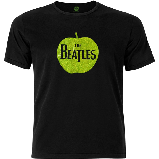 Picture of Beatles Adult T-Shirt: Green Apple Sparkle Logo